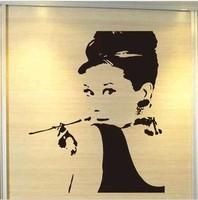 DIY Wall Art Decor Vinyl Removable Mural Decal Sticker Actress Audrey Hepburn