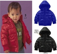 1 Set Retail,High quality! The boy warm winter coat. Hot Children's coat (High quality, the boy's coat/ red and black