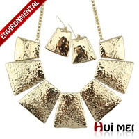 Free Shipping Min Mix Order $10 New Arrival Fashion Silver & Gold Statement Drop Earring &Necklace Vintage Jewelry Sets