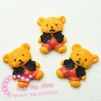 17*22mm resin kawaii cute bear flat back cabochon 50pcs/lot free shipping
