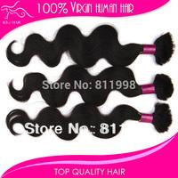 Mixed length 4pcs hair bundle Body Wave Brazilian Human Hair Bulk for Micro Braiding Hair Extension
