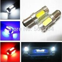 Free shipping 2pcs Auto LED Bulbs Backup Light Reverse lights 1156 Bay15S/Bay15D 7.5W 5 side Car Brake light