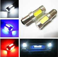Free shipping 2pcs Auto LED Bulbs Backup Light Reverse lights 1156 Bay15S/Bay15D 7.5W 5 side Car Brake light