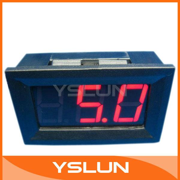 """5 Mini Car/Motorcycle Voltage Display Panel Meter 0.56"""" DC 0V~99V Red Digital Voltmeter DC Voltage Test Meter # 090126(China (Mainland))"""
