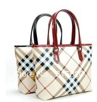 Fashion women's handbag  fashion check classic big plaid bags female luxury work bag women's messenger bag Free shipping