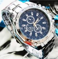 Luxury Three eye six stitches steel belt table watches men quartz watch watches men luxury brand sports wristwatch