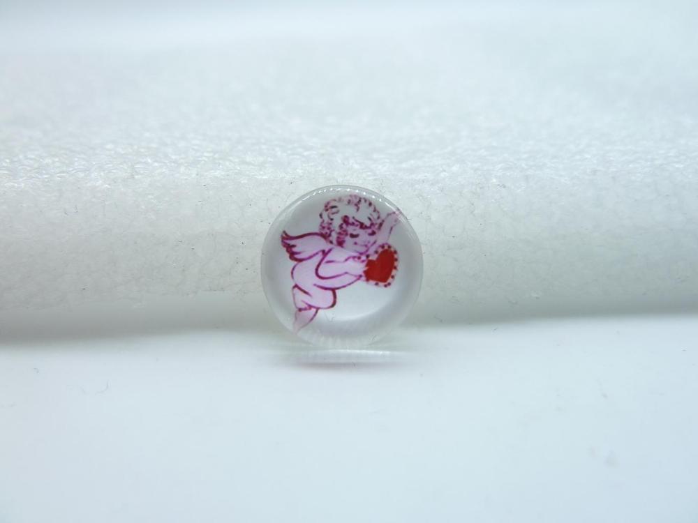 10pcs 12mm Handmade Photo Glass Cabochons Cupid GB15 15