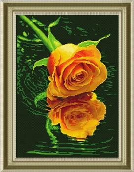 Высокое качество рукоделие 3D DIY алмаз живопись вышивка крестом швейные алмазы полный вышивка 25 x 30 см желтая роза L010