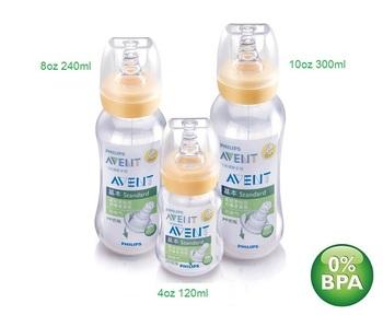 Free Shipping Avent new bottle standard pp bottle caliber nipple 120ml  240ml 300ml