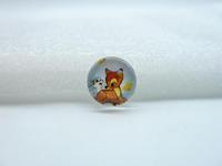 10pcs 12mm Handmade Photo Glass Cabochons ( Deer) GB16-23