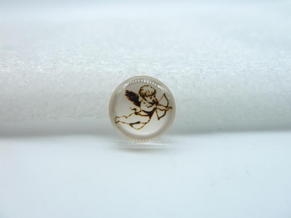 10pcs 12mm Handmade Photo Glass Cabochons Cupid Angel GB16 31