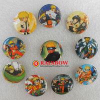 Wholesale !New Arrival!Free Shipping! 25mm 108 PCS/lot Ninja Uzumaki Naruto tin badge ,fashion pin badge.round badge button gift
