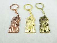 HOT Wholesale Retail Horsehead Keychains Creative Design Horse Gift Pendants Fashion Women Free Shipping