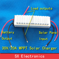 Real MPPT Solar Charge Controller Improve current 30%  30V20A  charge all kinds battery