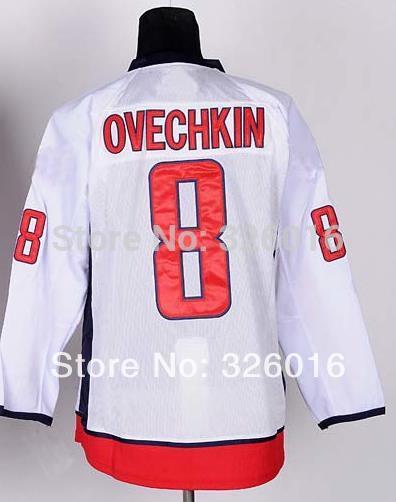 Washington #8 Alexander Ovechkin Jersey,Cheap Ice Hockey Jersey,Sports Jersey,Best quality,Embroidery logos,Authentic Jersey(China (Mainland))