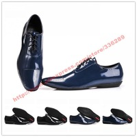 Real Patent Leather Men's Dress Shoes Oxfords Shoes For Sale Top Quality Male Office Shoes Business Shoes Size 40-47 Free Ship