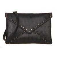 New 2014 Fashion Korean Designer Rivet Envelope Single Shoulder Women Bags Skull Clutch Crossbody Punk Brand Handbags For Girls