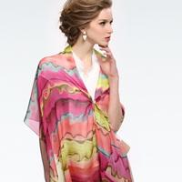 The new lady bohemia style 100% mulberry silk scarf/fantasy world  178*53cm