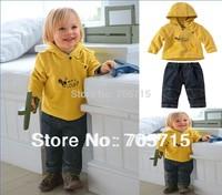 Retail Free shipping kids hoodie + jeans set,boys hoodies,boy clothing set