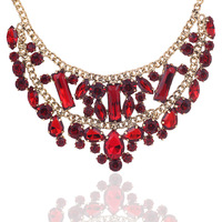 Free Shipping Wegirl 2013 Handmade Vintage Acrylic Stone Statement Jewelry Necklace vintage Jewelry Fashion NecklaceN066