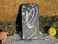 Bulk New Luxury 3D big angel Bling Crystal Diamond Case Cover For iPhone 4g 4s