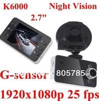 """HOT!Original Novetak K6000 1080P 25fps Car DVR 2.7"""" LCD Recorder Video car camera Car Video Recorder/G-sensor"""