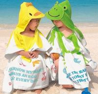 High Quality, cute animals Baby Cotton Bathrobe Children Beach Towel Kid Bath Robe Optional pattern--free shipping