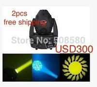 2pcs/Lot, 60W LED Moving Head Spot Light DMX Gobo Shaking Head Lighting