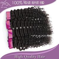 Cheap Wholesale Mixed 12 14 16 18 20 22 24 26 28 inch 3pcs lot 100g/pcs unprocessed natural color curly brazilian virgin hair