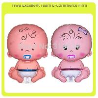 Free Shipping Factory Wholesale helium balloon 100pcs/lot 76X48cm Lovely Baby Newborns Balloons