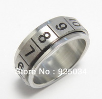 RS01 316L  Stainless steel  Poker Rotate Spinning Rings,$35.99/36pcs