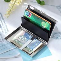 freeshipping men fashion business metal card holder multifunctional bank card box wallet commercial card bag
