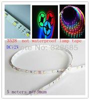 LED strip 5m 300 LEDs 3528 SMD 12V flexible light 60 led/m white/warm white/blue/green/red/yellow
