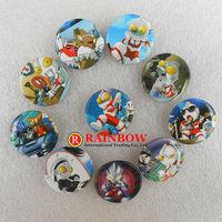 Free Shipping Wholesale Ultraman tin Badges Photo Color Novelty Cartoon Backpack Accessories Kid Gift Pin Badge 108pcs/lot 2.5cm