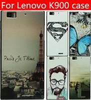 Lenovo K900 case lenovo K900 cover 25 species pattern black side case Free shipping