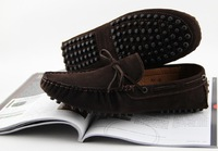 Free Shipping 2013 New Fashion Casual soft outsole nubuck Lace-up driving Shoes Mocassins