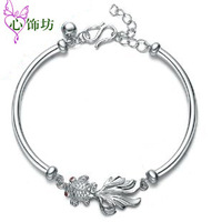Free Shipping New Fashionable Women Jewelry Chain Bracelet 925 Sterling Sliver Charm Bracelet