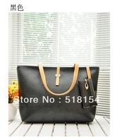 Free Shipping  Fashion BLACK  Leather Luxury Ladies TOTES  Woman Bag HANDBAG  8  colors