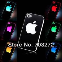 1PCS/lot Colorful Change logo Battery Sense Flash LED light Cover Case for Apple iPhone 5 5S + Retail box free dropshipping