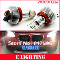 Cree 20W H8 led Angel Eyes for BMW E92/E93/E70/E71/E53 X5