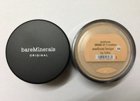 New Prevent bask loose powder,bareMinerals bare Minerals Escentuals SPF15 Foundation, 30 pcs/lots medium beige color.#1