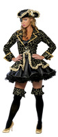 2014 Free shipping Adult women halloween costume Fancy deluxe pirate costume Masquerade suits Carnival costume Party show