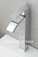 New Waterfall faucet Deck Mount Bathroom Faucet Brass Mixer bre533