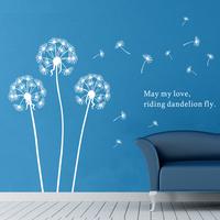 Factory direct sales of nine nine wall waterproof quality dandelion sticker 90475