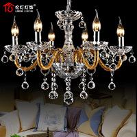 Lamps fashion luxury lifter dual crystal pendant light restaurant lamp 1305 (6 lights)