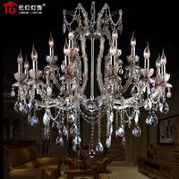 Lamp lighting fashion luxury crystal pendant light crystal lamp 1360308 K9 (12+6 lights)