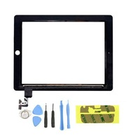 Original Black Touch Screen For iPad 2 Glass Digitizer Replacement + Adhesive Glue Tape 3M With 7 Pieces Tool Free Shipping
