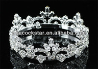 Bridal Flower Girl / Baby Round Full Circle Rhinestone Mini Tiara Crown CT1751