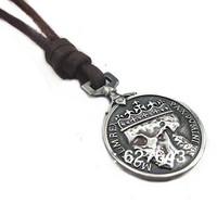 VN173/Wholesale(Min.Order $15)100% Genuine Leather 2013 Men Long Necklace Punk Vintage Leather Necklace Skull Pendant Gifts