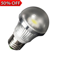 6w LED bulb, Bubble Ball Bulb AC85-265V ,E27,silver shell color,warm/cool white,freeshipping